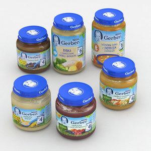 baby food jar 3D model