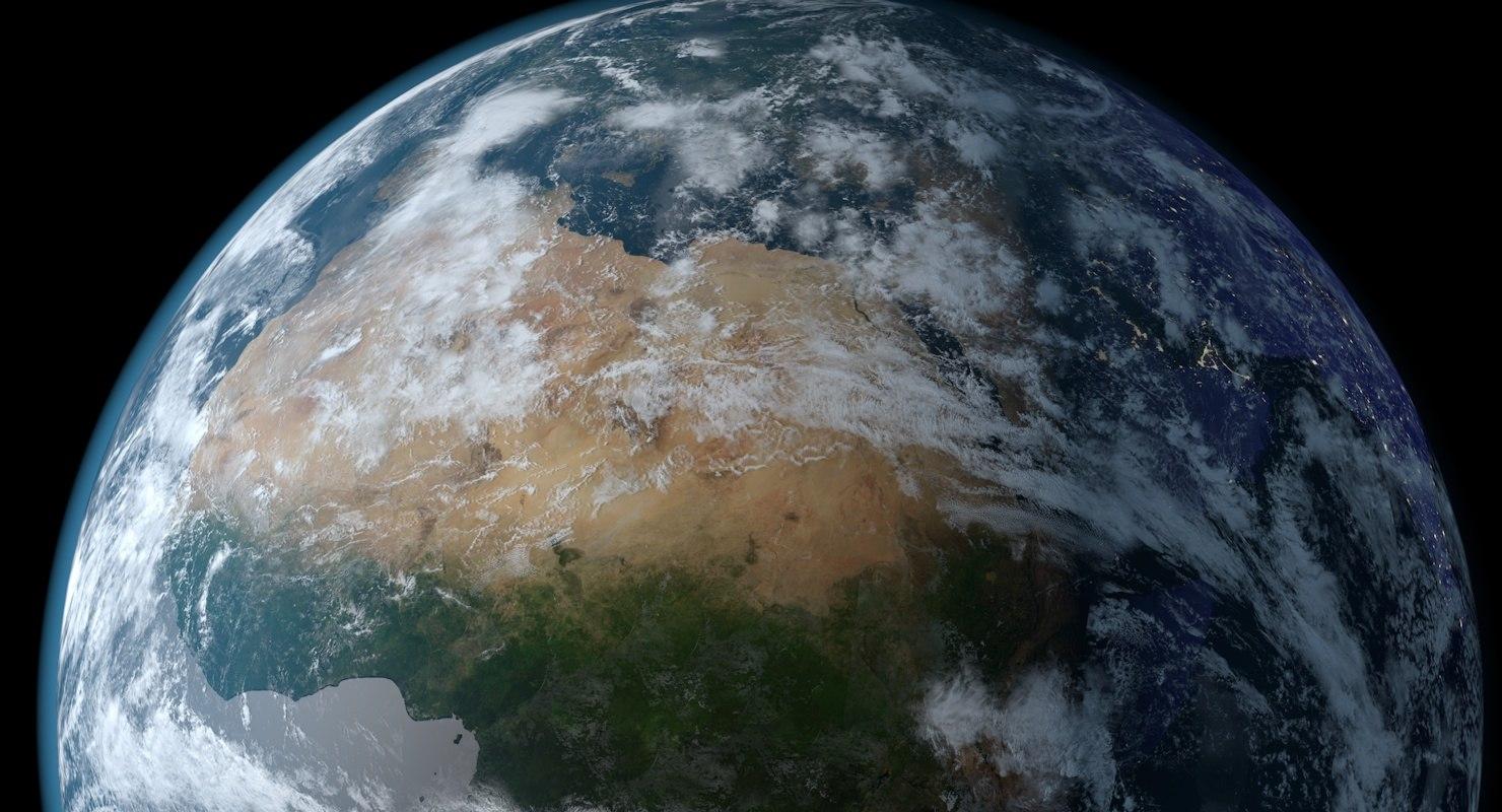 earth cloud 3D model