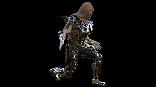 3D medieval soldier