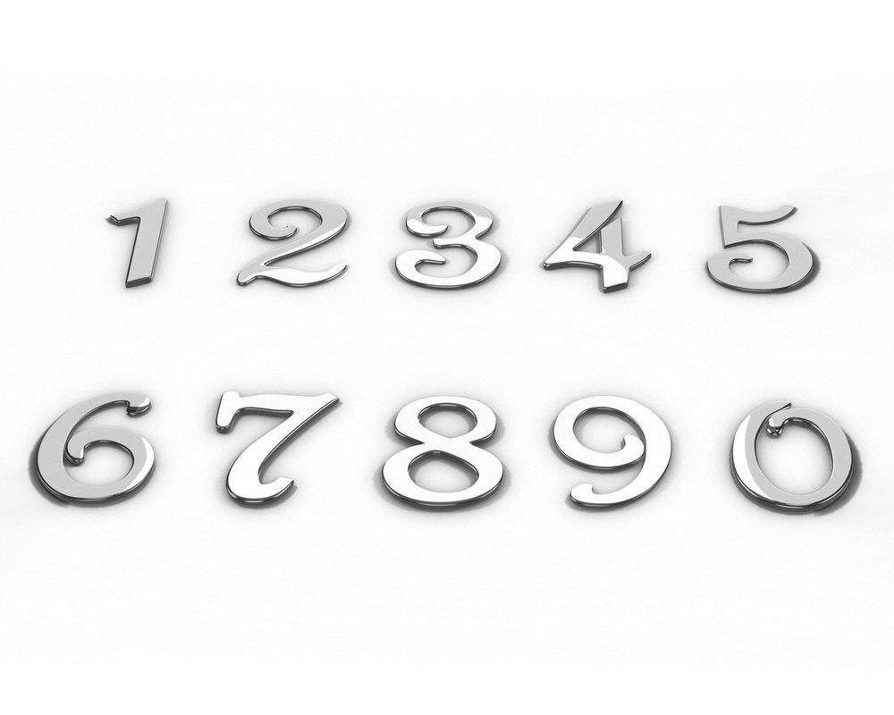 house address numbers 0 3D