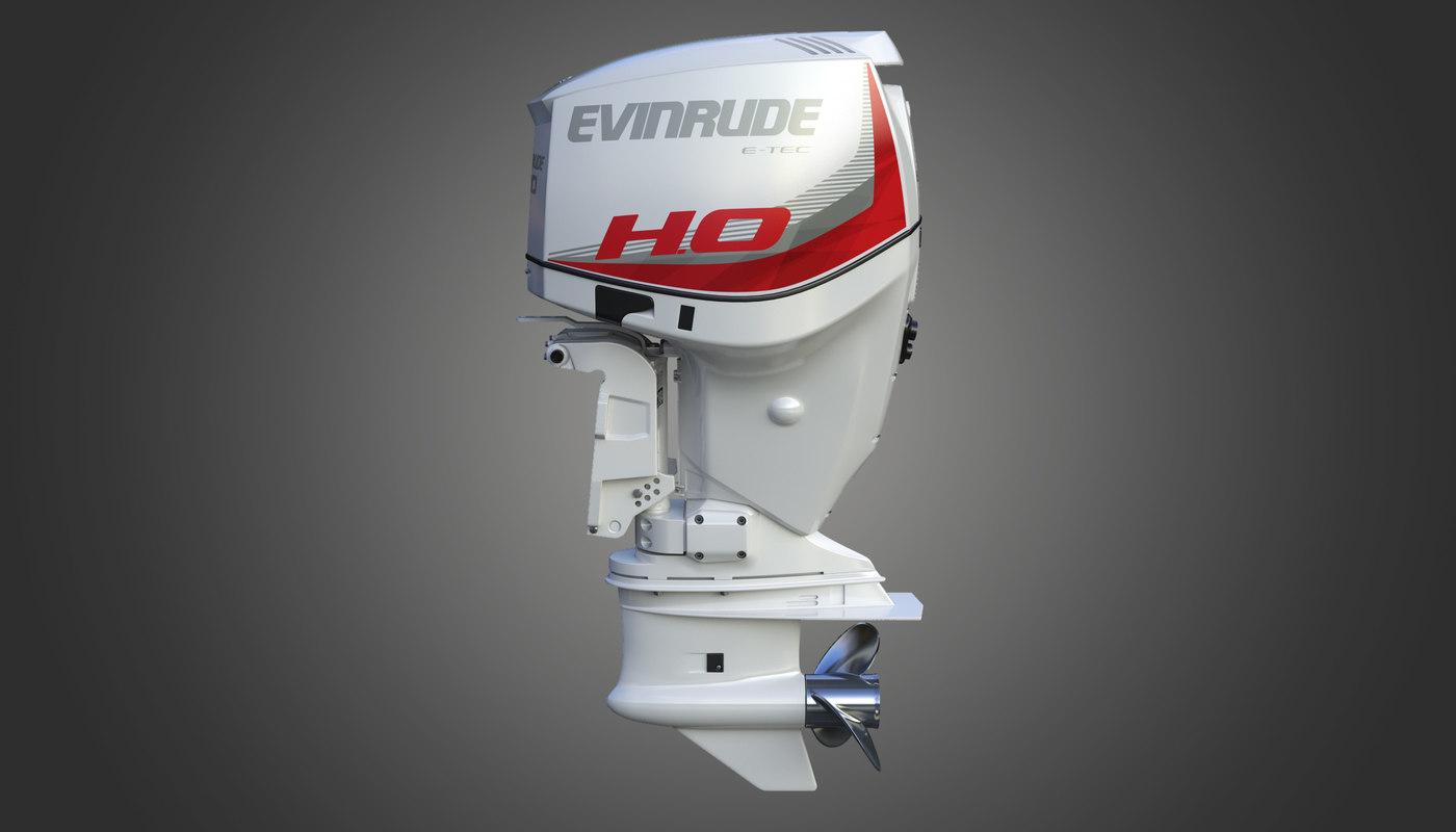 evinrude e-tec outboard engine 3D model