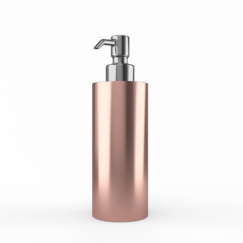rosegold soap dispenser 3D