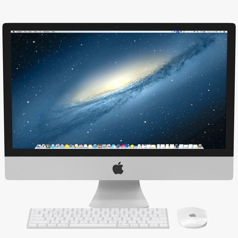3D apple imac pbr model