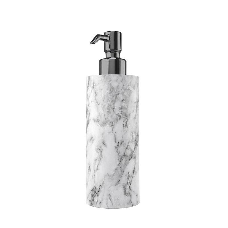 white marble soap dispenser 3D model