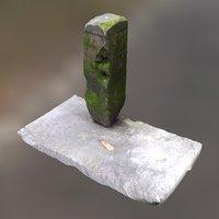 Moss Concrete Pillar