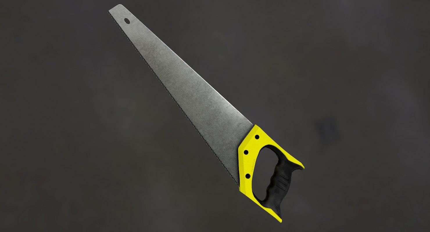 3D model hand saw
