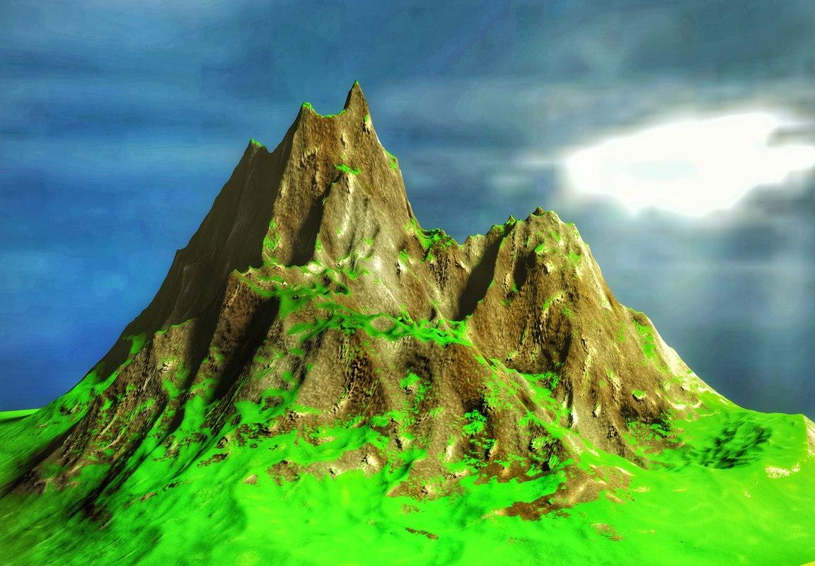 3D mountain mount model
