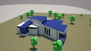 bluclub conference center 3D model