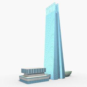 taipei nan shan plaza 3D