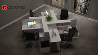 office desk and workstation (collection package)