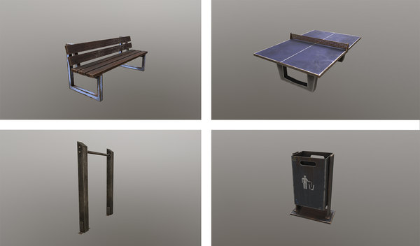 bench rack 3D model