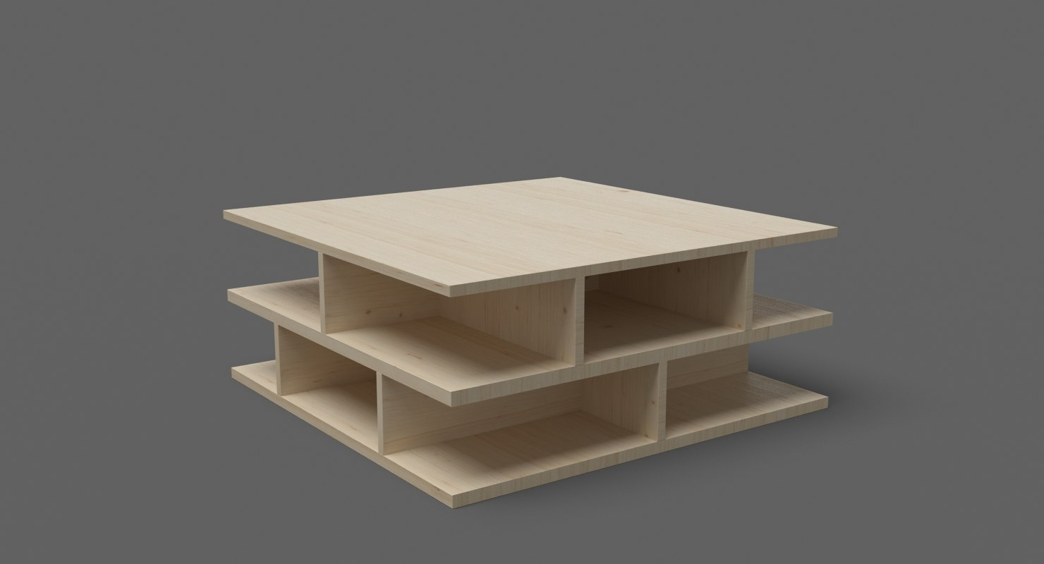 3D contemporary coffee table 07