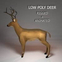 deer rigged animations model