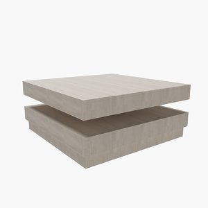 contemporary coffee table 08 3D