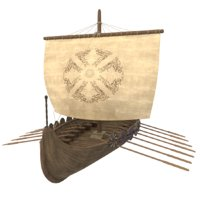 A Viking Ship for Blender and Unity