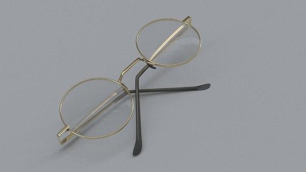 realistic glasses 3D