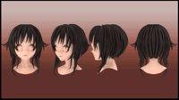 Megumin Hair style 3D