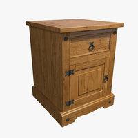 nightstand wood 3D model