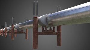 3D oil pipe line model