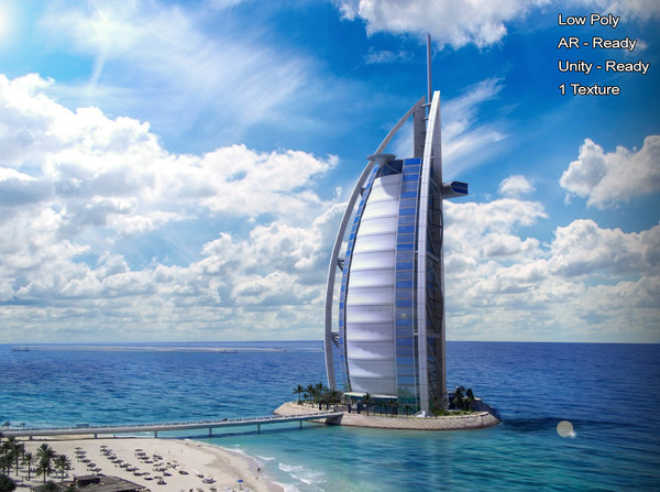 3D model burj al arab