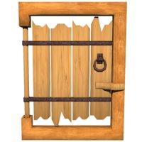 3D wood gate