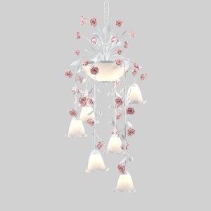 3D chandelier fiori di rose model