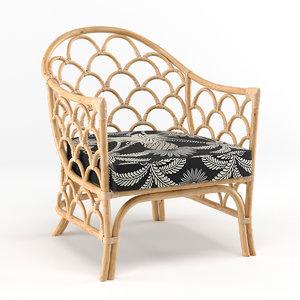 arm chair panama 3D model