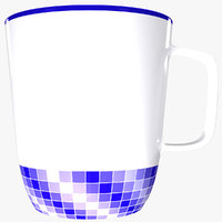 ceramic mug 3D