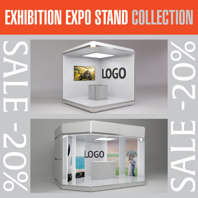exhibition expo stands 3D model