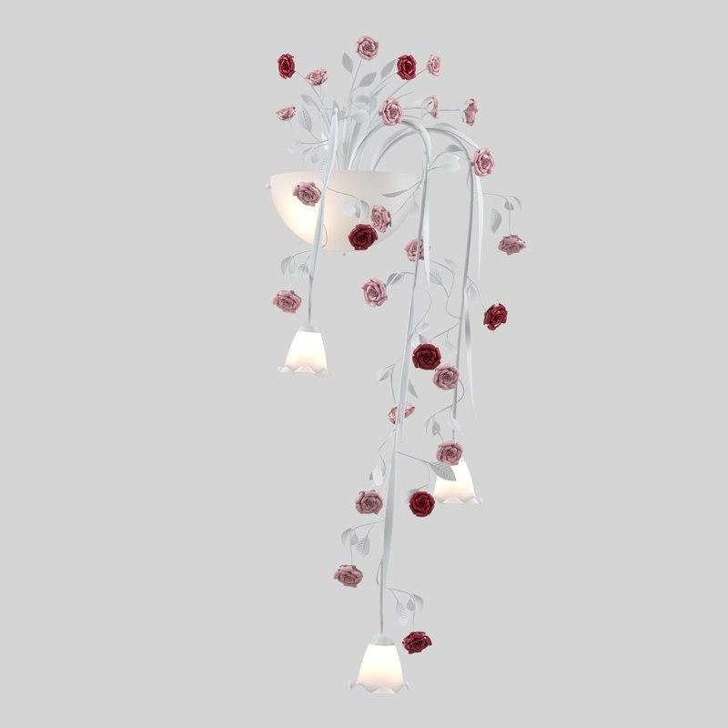 3D chandelier fiori di rose