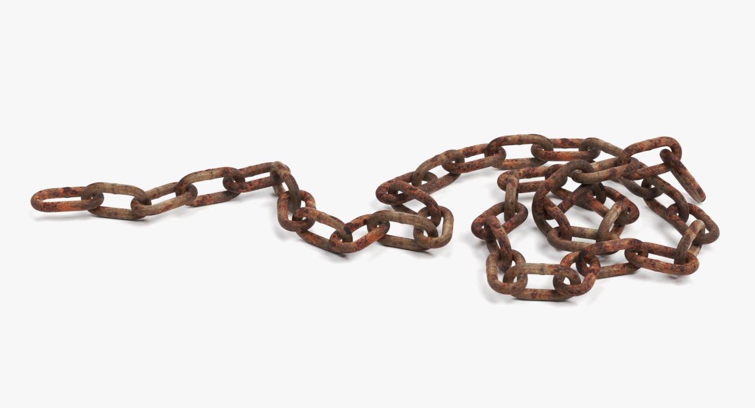 rusty chain 3D model
