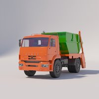 kamaz container garbage 3D model