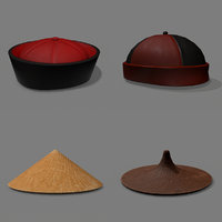 chinese hats pack model