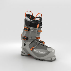 ski boot black 3D model