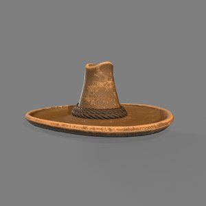 old west mexican hat 3D model