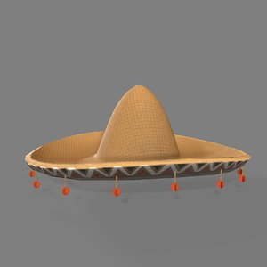 old west mexican hat 3D