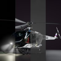 3D helicopter 4 copter model