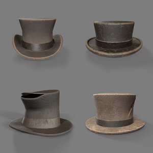 hats pack 3D model