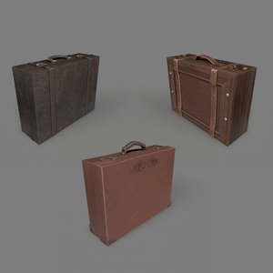 3D model suitcases pack