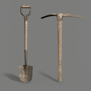 3D pickaxe shovel pack