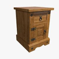 3D nightstand wood model