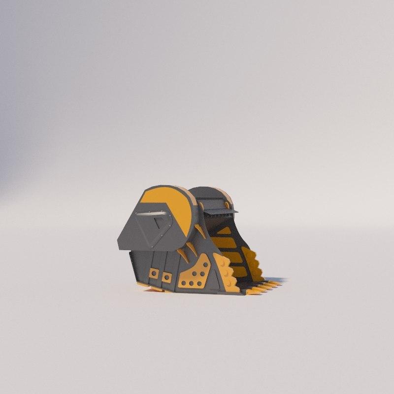 3D excavator bucket bf