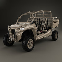 polaris military rzr 3D model