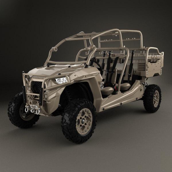 polaris military rzr 3D model