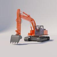 excavator 220 3D model