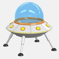 3D cartoon ufo v2 model
