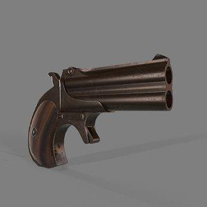 derringer gun 3D model