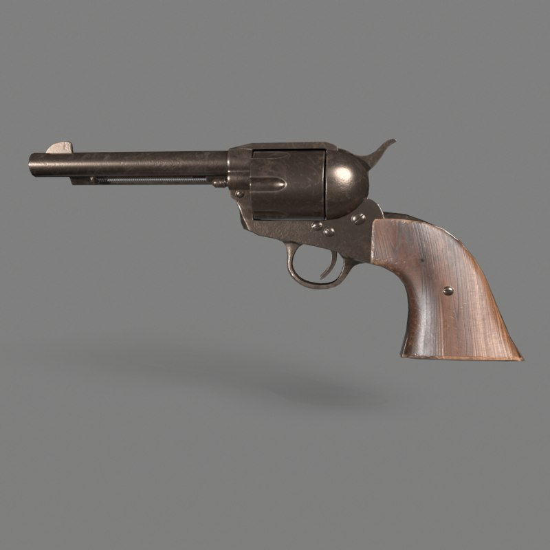 3D model colt single action army