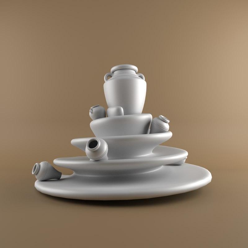 3D earthenware jar model