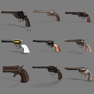 gun pack 9 different 3D